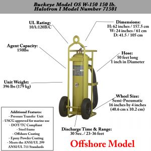 Buckeye Model OS W-150 Halotron I Wheeled Fire