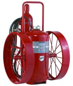 Buckeye Model S-350-RG-R 350 lb. Standard Dry Chemical Agent Regulated Pressure Wheeled Fire Extinguisher (32240)