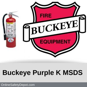 Buckeye Purple K MSDS