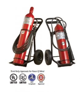 Carbon Dioxide Wheeled Fire Extinguishers
