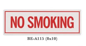 Commercial No Smoking Sign 8x10