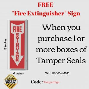 Free Fire Extinguisher Sign