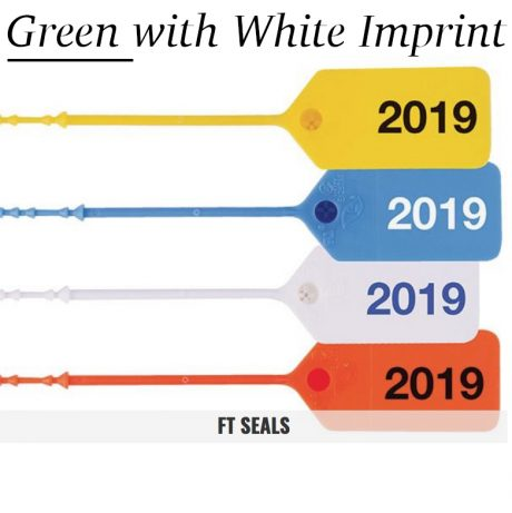Green-White FT Flame Tamper Seals for Fire Extinguishers