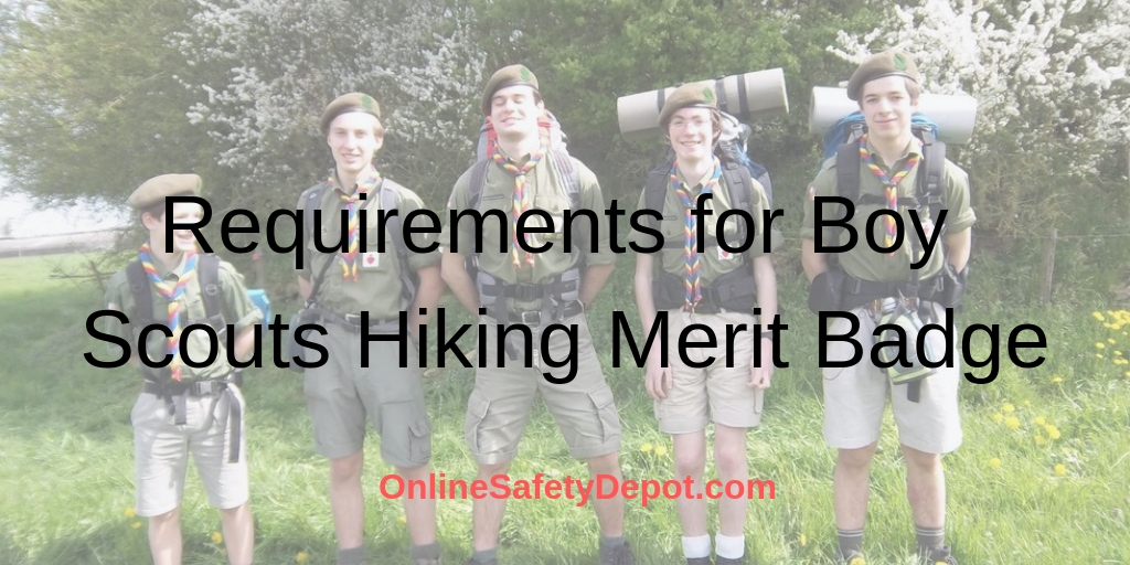 Hiking Requirements for Boy scouts Hiking Merit Badge