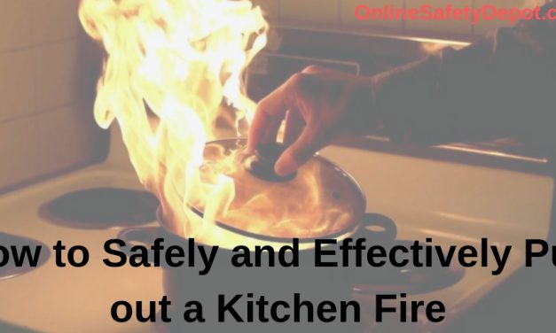 How to Safely and Effectively Put out a Kitchen Fire – Three Simple Methods!