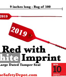 Large Red with White Dated Tamper Seals