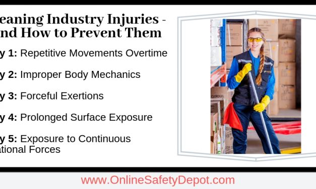 Most Common Cleaning Industry Injuries – and How to Prevent Them