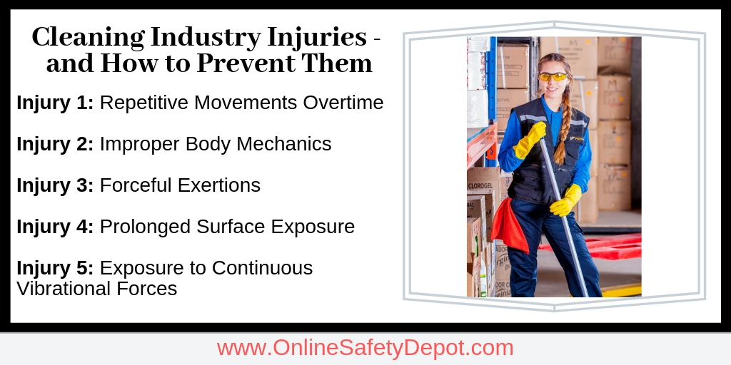 Most Common Cleaning Industry Injuries - and How to Prevent Them