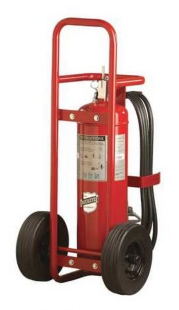 Offshore Model OS K-150-RG 125 lb. Purple K Dry Chemical Agent Regulated Pressure Wheeled Fire Extinguisher (31570)