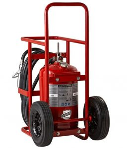 Offshore 50lbs wheeled fire extinguisher