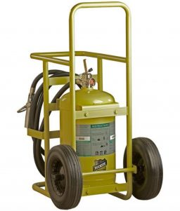 Buckeye Offshore Wheeled Fire Extinguisher Model OS W-150, 150 lb Halotron Agent (71501)