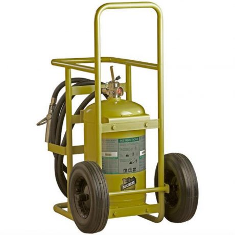 Buckeye Offshore Wheeled Fire Extinguisher Model OS W-65, 65 lb Halotron Agent (76501)