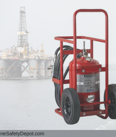 Offshore Wheeled Fire Extinguishers