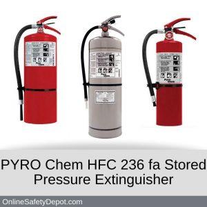 PYRO Chem HFC 236 fa Stored Pressue Extinguisher