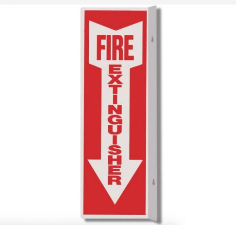 Plastic Fire Extinguisher sign with arrow