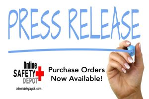 Purchase Order Press Release | OnlineSafetyDepot.com