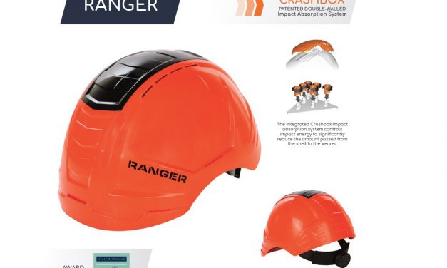 Revolutionary and Award-Winning Safety Hard Hat with Crashbox Technology for maximum protection and comfort.