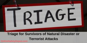 Triage for Survivors of Natural Disaster or Terrorist Attacks