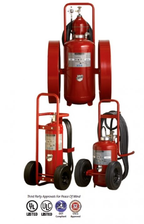 Wheeled Dry Chemical Fire Extinguishers