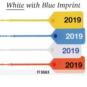 White-Blue FT Flame Tamper Seals for Fire Extinguishers