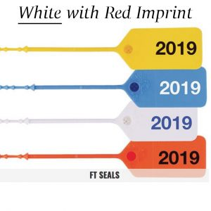White-Red FT Flame Tamper Seals for Fire Extinguishers