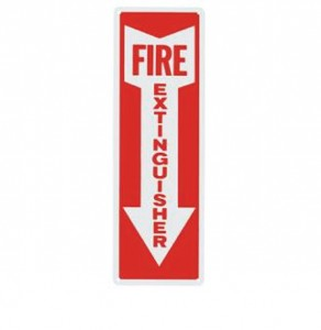 Aluminum Fire Extinguisher Sign with Arrow