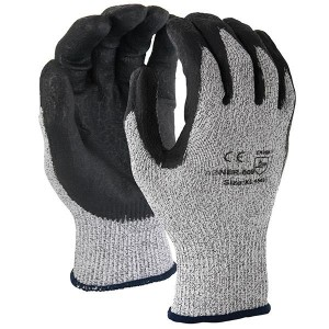 TruForece Latex Coated Cotton Poly Work Gloves - Gray/Blue