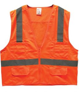 Bright Orange Surveyor's Safety Vest ANSI 107
