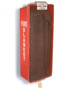 Brooks ABS-FB-CAB Flame Resistant Wool Fire Blanket and Storage Cabinet
