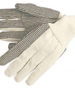 Cotton Canvas Work Gloves with Gripper Dots