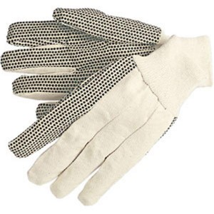 Cotton Canvas Work Gloves with Gripper Dots