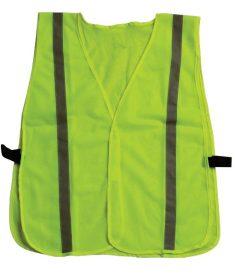 Inexpensive Lime Green Hi Viz Safety Vest Reflective Strips