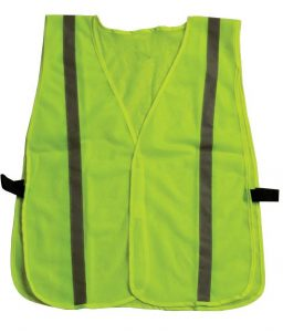 Inexpensive Lime Green Hi Viz Safety Vest Reflective Strips