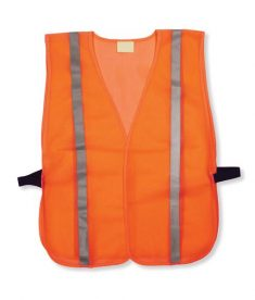 Cheap Orange Mesh Hi Vis Safety Vest Reflective Stripes