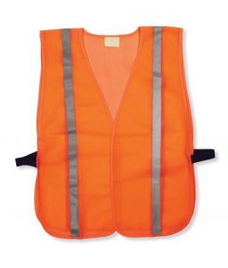 Cheap Orange Mesh Hi Vis Safety Vest Reflective Stripes