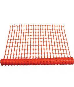 Orange Mesch Safety Fence Netting Boundary Marker