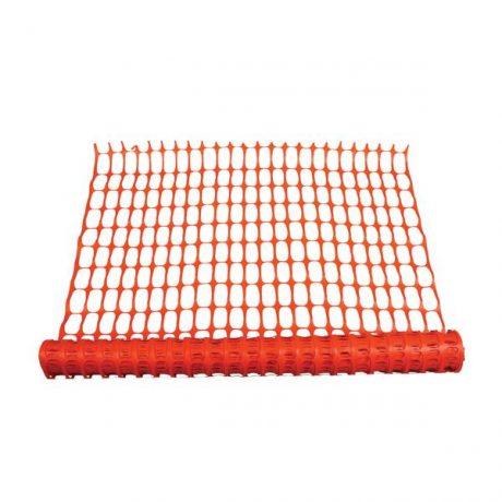 Orange Mesch Safety Fence Netting Boundary Marker
