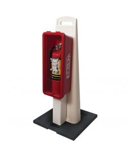 Fire Extinguisher Cabinet Stand Combo 10-Pound