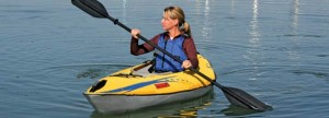 Use the Firefly Compact Kayak on the Lake