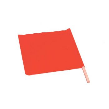 Fluorescent Orange Traffic Control Flag With Wooden Dowel