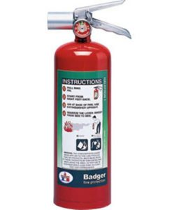 Badger Extra Halotron I 5-Pound Fire Extinguisher