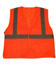 Hi Viz Orange Reflective Safety Vest - ANSI 107 Class 2