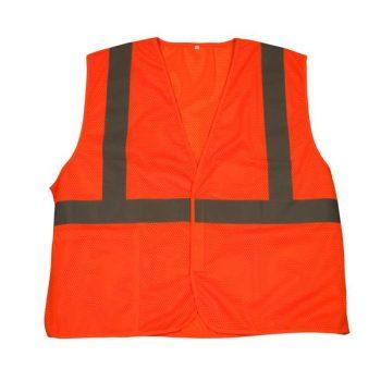 Hi Viz Orange Reflective Safety Vest - ANSI 107 Class 2