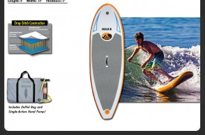 Hula 8 Stand Up Paddleboard Surfing