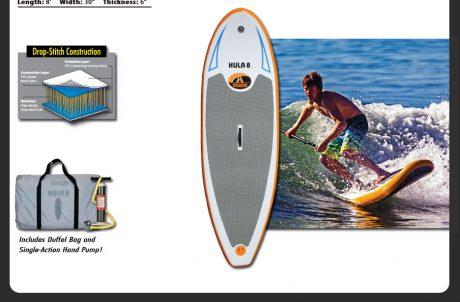 Hula 8 Stand Up Paddleboard Surfing