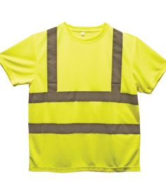 Lime Color Hi-Visibility Safety T-Shirt