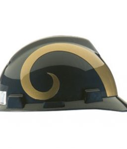 Los Angeles Rams Hard Hat NFL Construction Helmet