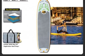 Lotus YSUP Yoga Stand Up Paddleboard by Advanced Elements