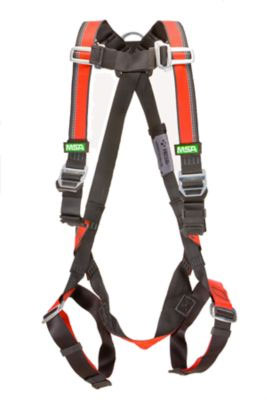 MSA Evotech Full Body Worker Safety Harness with Qwik Chest and Leg Straps