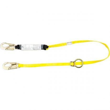 MSA Workman Single Leg Shock Absorbing Lanyard with Tie-Back